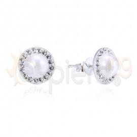 Ασημένια σκουλαρίκια με πέτρες 20311