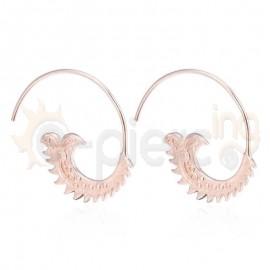 Ασημένια σπιράλ σκουλαρίκια Rose Gold 20318