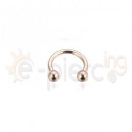 Rose Gold πέταλο από χειρουργικό ατσάλι 21001
