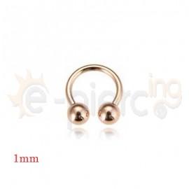 Rose Gold λεπτό πέταλο 1mm 21030