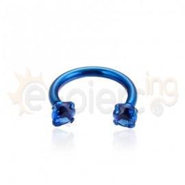 Μπλε πέταλο 8mm με ζιργκόν 21054
