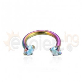 Rainbow πέταλο 8mm με ζιργκόν 21055