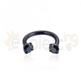 Μαύρο πέταλο 8mm με ζιργκόν 21058