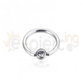 Ball Closure Ring 8mm από Τιτάνιο G23 31005