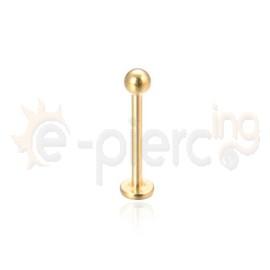 Σκουλαρίκι χειλιού 12mm από επίχρυσο Τιτάνιο G23 31006