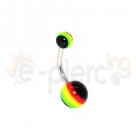 Σκουλαρίκι αφαλού rasta 49041
