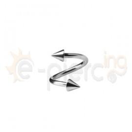 Σκουλαρίκι twister με κώνους 1.2X12X3/3C 50185