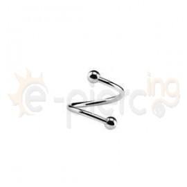 Σκουλαρίκι twister 1.2X8X3/3Β 50187