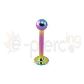 Rainbow σκουλαρίκι για χείλη 3mm 50261
