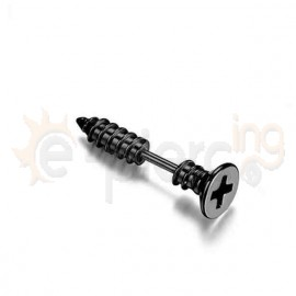 Σκουλαρίκι μαύρη βίδα 7mm 50265