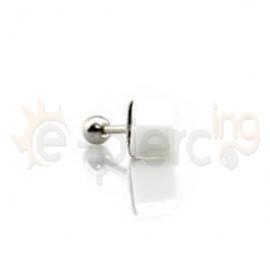 Σκουλαρίκι κρύσταλλο κύβος 6mm 50318