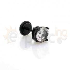 Μαύρο σκουλαρίκι ζιργκόν 8mm 50355