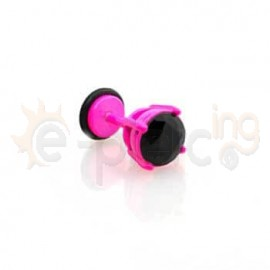 Φουξ σκουλαρίκι με μαύρο ζιργκόν 8mm 50357