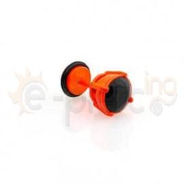 Πορτοκαλί σκουλαρίκι με μαύρο ζιργκόν 8mm 50358