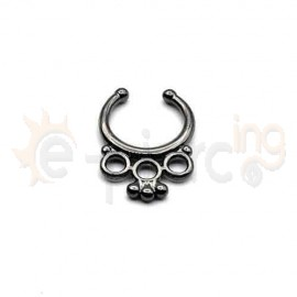 Fake Septum μαύρο 50544