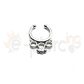 Fake Septum ασημί 50556
