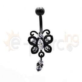 Μαύρο σκουλαρίκι αφαλού 50582