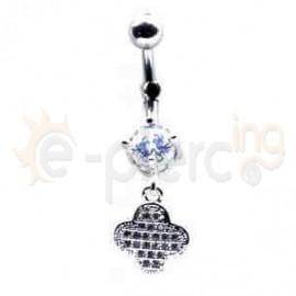 Ατσάλινο σκουλαρίκι αφαλού 50672