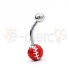Σκουλαρίκι αφαλού Baseball 50682