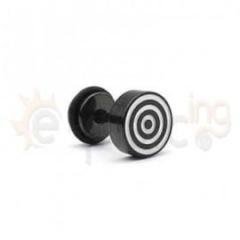 Μαύρη τάπα με σμάλτο 8mm 50781