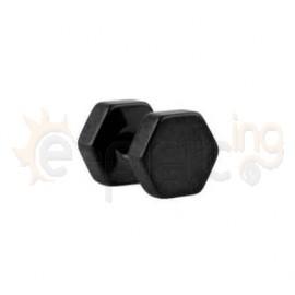 Μαύρη πολύγωνη τάπα 6mm 50833