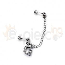 Διπλό σκουλαρίκι με αλυσίδα 51197