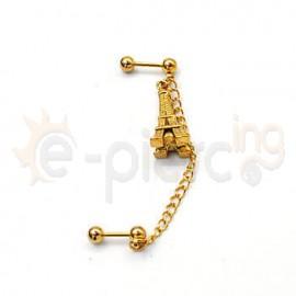 Διπλό σκουλαρίκι με αλυσίδα 51201