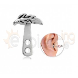 Σκουλαρίκι Helix φύλλο Surgical Steel 51229