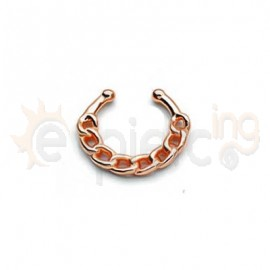 Fake Septum αλυσίδα Rose Gold 58863