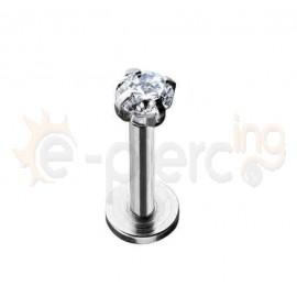 Σκουλαρίκι χειλιού με ζιργκόν 3mm 59565