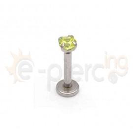 Σκουλαρίκι χειλιού με ζιργκόν 3mm 59573