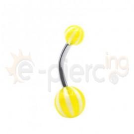Σκουλαρίκι αφαλού multi stripe 59591
