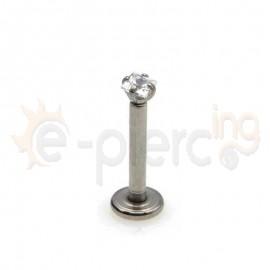 Σκουλαρίκι χειλιού με τετράγωνο ζιργκόν 3mm 59724