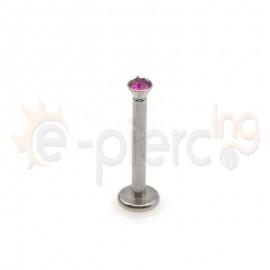 Σκουλαρίκι για χείλη με φουξ πέτρα 2mm 59729