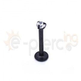 Μαύρο σκουλαρίκι χειλιού με ζιργκόν 3mm 59745