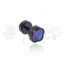 Σκουλαρίκι μαργαρίτα με ιριδίζον κρύσταλλο 8mm Κωδ: 59807