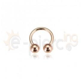 Rose Gold πέταλο με μπίλιες 59977