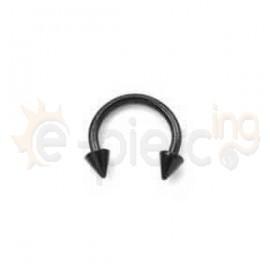 Μαύρο πέταλο 6mm με κώνους 3mm 59999