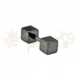 Σκουλαρίκι τάπα 4mm-Black Steel