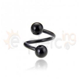 Μαύρο twister από χειρουργικό ατσάλι 316L 60020