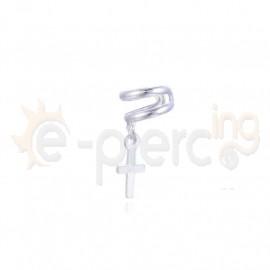 Ασημένιο σκουλαρίκι Helix