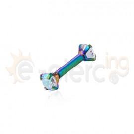 Rainbow μπάρα με ζιργκόν πέτρες 60069