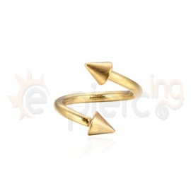 Gold Plated Cone Spiral 1.2mm 60079