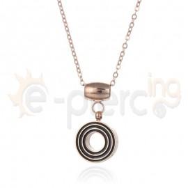 Κολιέ Rose Gold από ανοξείδωτο ατσάλι 720301
