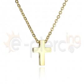 Επίχρυσος σταυρός ατσάλι 316L Unisex 720388