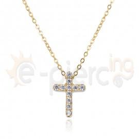Επίχρυσος σταυρός ατσάλι 316L Unisex 720422
