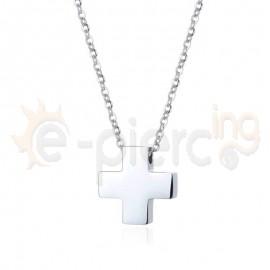 Σταυρός τετράγωνος ατσάλι 316L Unisex 720904