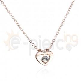Κολιέ ροζ καρδιά 720910