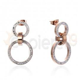 Κρεμαστά σκουλαρίκια από ανοξείδωτο ατσάλι 750093