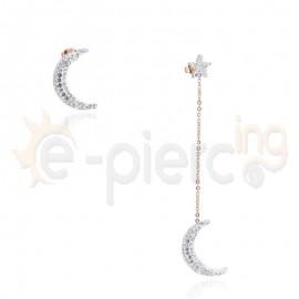 Κρεμαστά σκουλαρίκια από ανοξείδωτο ατσάλι 750102